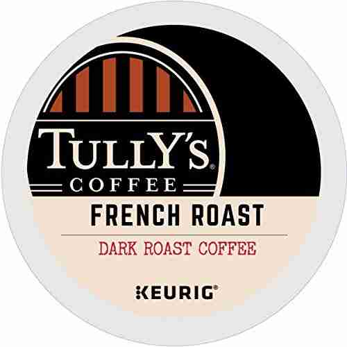 Tully's Coffee french roast coffee K-Cup coffee.