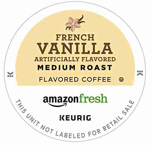 French vanilla flavored K-cup by amazon Fresh