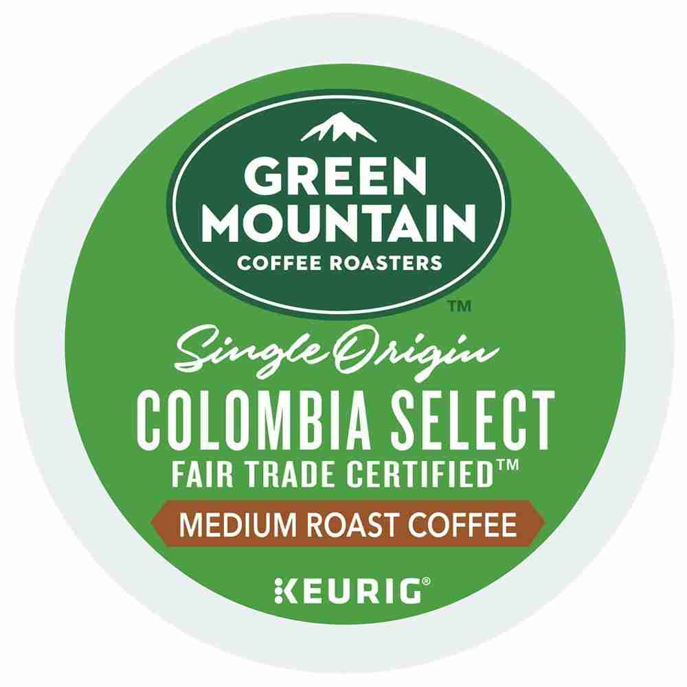 Green mountain Coffee roasters Colombia Select fair trade certified K-Cup