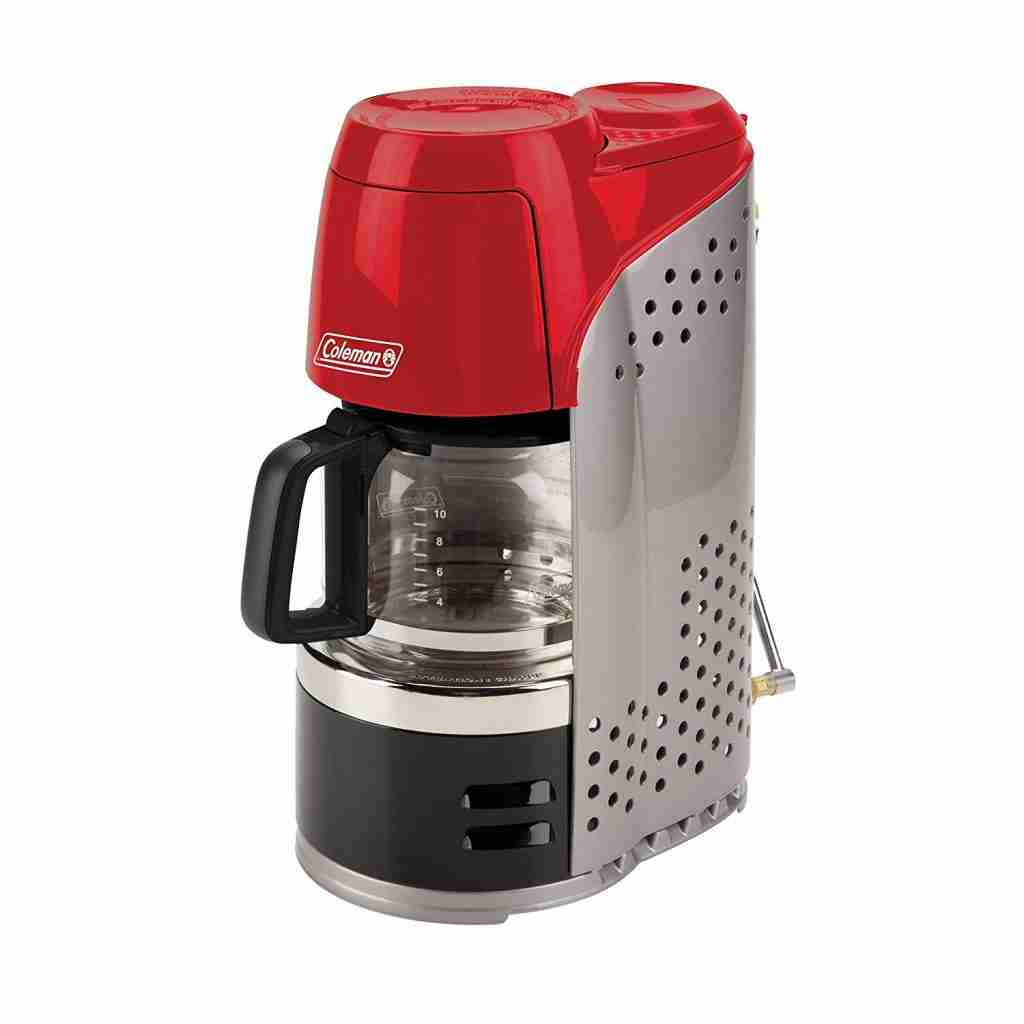 The brand new coffee maker, coleman quikpot propane coffee maker. The best coffee maker for camping for multiple people.