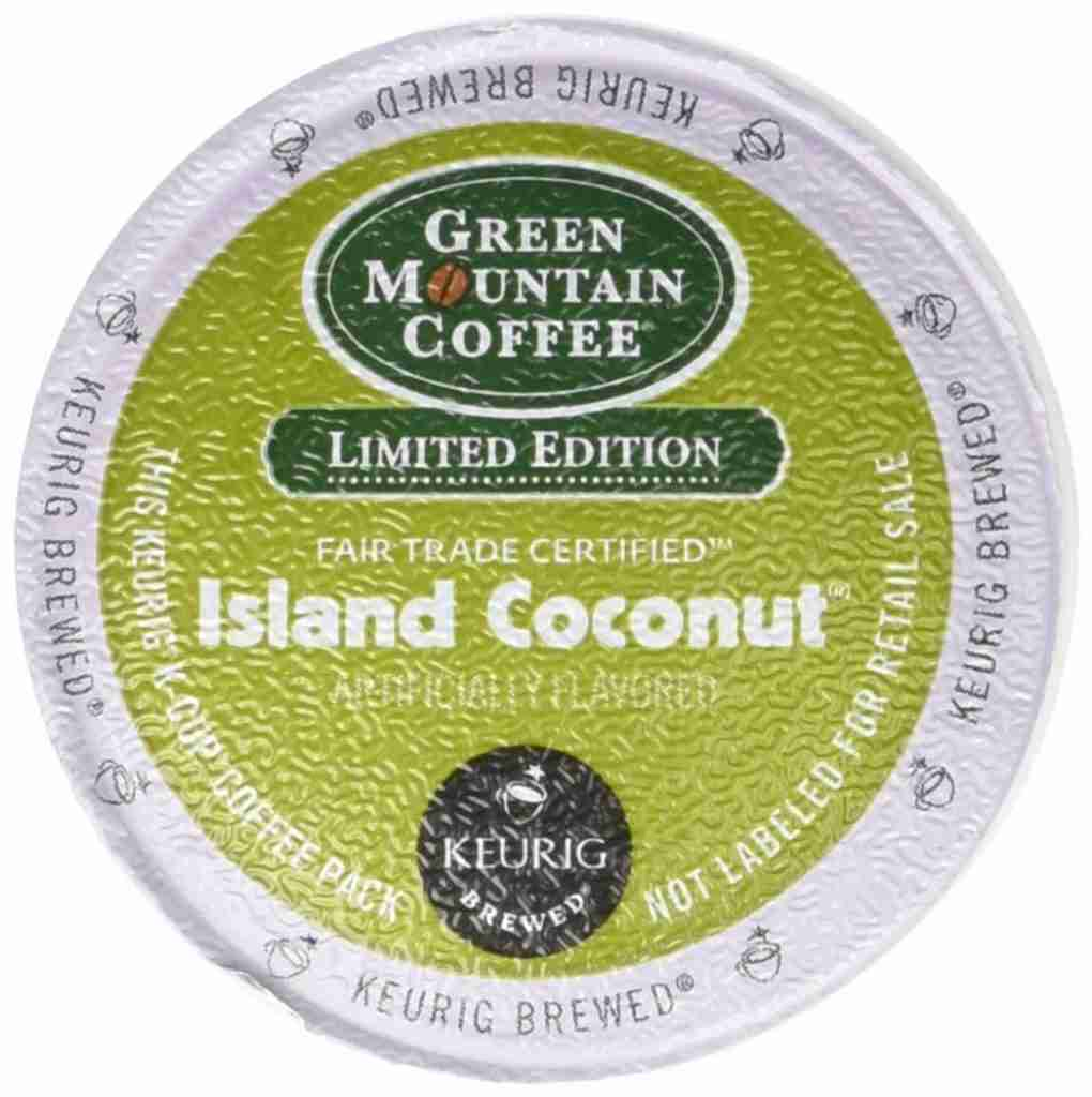 Limited edition island coconut K-Cup Coffee Pod