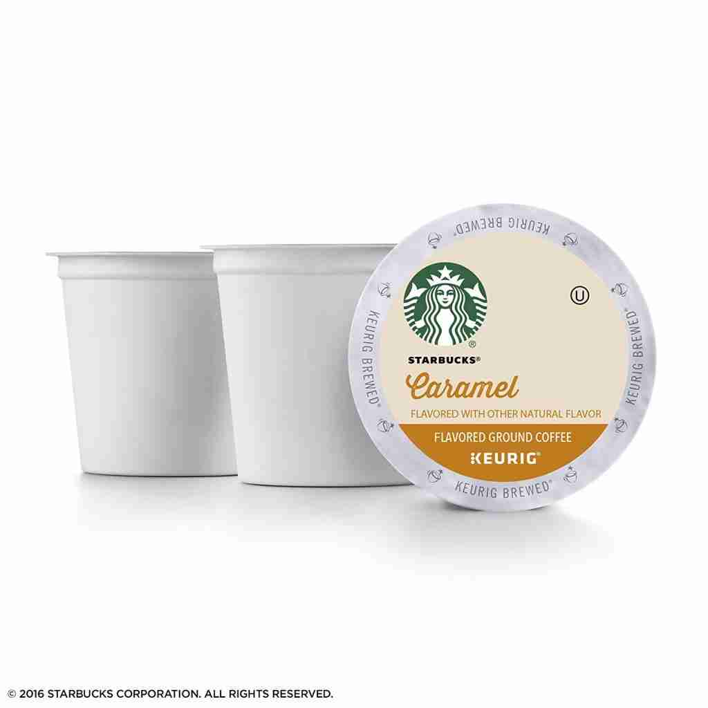 Starbucks caramel K-Cup flavored with other natural flavors