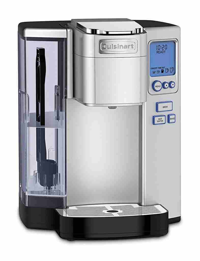 The Cuisinart SS-10 Premium Single-Serve Coffeemaker. Our recommended coffee maker for K-cups.